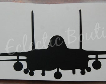 Vinyl Car Decal Strike Eagle/F-15E Front View