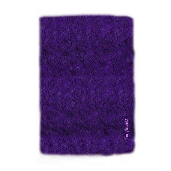 Sale Soft Faux Fur Area Rug Purple Shaggy Shag By FurAccents
