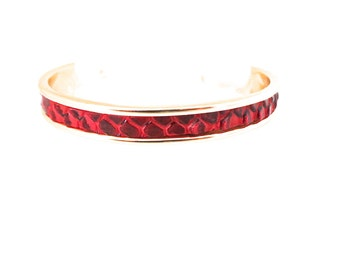 Croco red way Bangle Bracelet