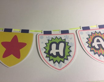 Shopkins Banner with Name and Age