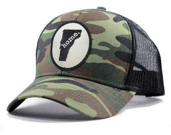Homeland Tees Vermont Home Army Camo Trucker Hat