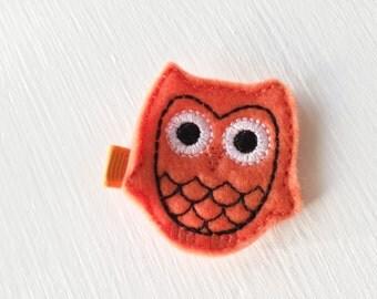 Dainty Cute - Halloween Owl Bow - Orange and Black - Owl Hair Clip - Halloween Hair Bow - Baby Bows - Owl Baby Girl - Halloween Infant - Bow