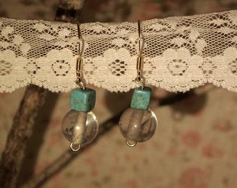 Crystal clean ocean earrings