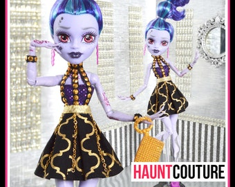 "Monster Doll Haunt Couture: ""Bottled Up"" high fashion dress clothes"