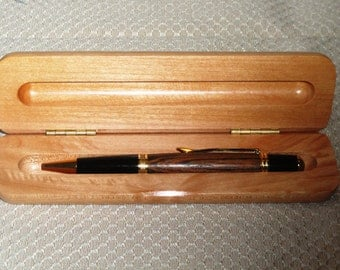 Gold Wall Street II Pen with Bocote