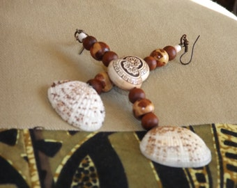 Brown and Shell earrings