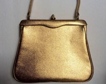 Retro vintage 1950's gold handbag/purse by Block