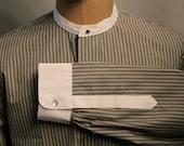 vintage style dress shirt, dress shirt, 1920's Peaky Blinders shirt, vintage shirt for detachable collars, men's shirt vintage style,