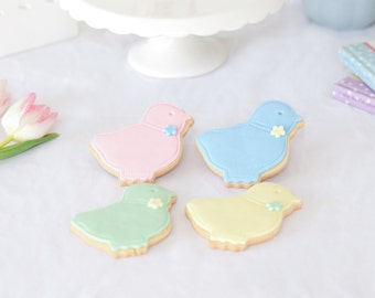 Easter gift, chick biscuits , spring biscuits, Happy Easter, Easter iced biscuits, Easter cookies, free UK postage, chocolate alternative