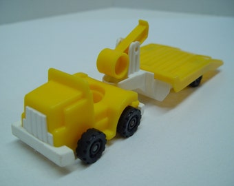 ON SALE - 1983 Fisher Price Yellow Truck and Trailer