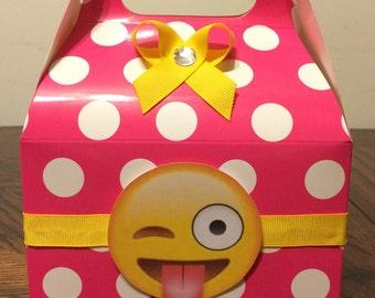 Yellow face favor boxes