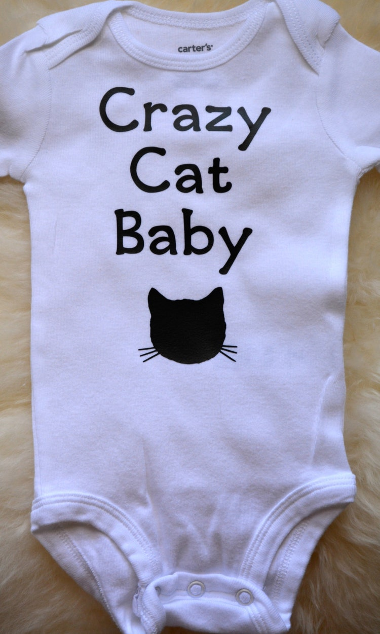 Cat Baby Onesie Baby Clothes Crazy Cat Baby By Eclecticbadger