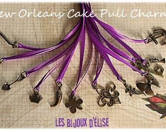 12 pcs New Orleans Wedding Cake Pull Charms (BRONZE) - Set no 3