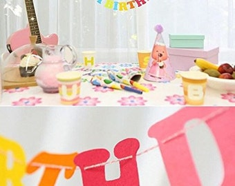 Happy Birthday flags bunting Party Decoration