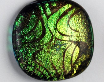 2351 dichroic cabochon - free shipping
