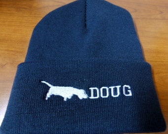 PERSONALIZED KNIT BEANIE - Machine Embroidered