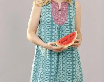 Watermelon & Mint Sleeveless Dress