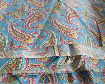 Antique Cotton 35 inch Vintage 1930s Fabric Quilting Sewing Half Yard