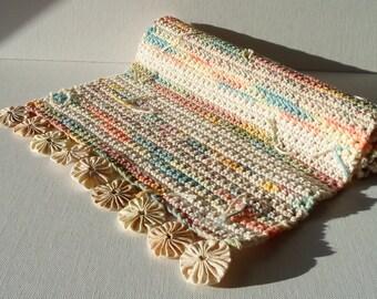 Handmade Table Runner Cotton Crochet Shabby Chic