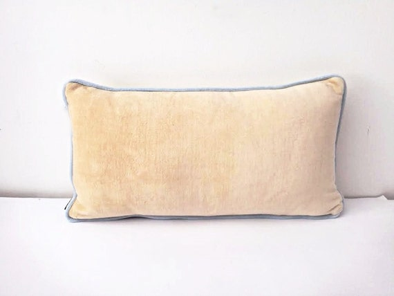 items similar to velvet ivory throw pillow cover 12 quot by 20 87198