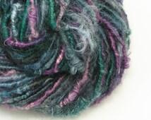 Bulky Yarn, Artisan Yarn, Handspun Yarn, Teeswater Yarn, Weaving Yarn, Mixed Media, Art Yarn, Handspun Art Yarn, Textured Yarn - TORTOISE