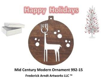 992-15 Mid Century Modern Christmas Ornament