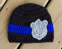 Unique crochet police related items Etsy