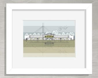 Architectural Print - Saltdean Lido
