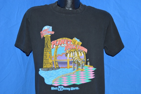 90s planet hollywood walt disney world black by for Planet hollywood t shirt
