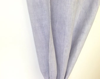 Pearl grey linen Curtain