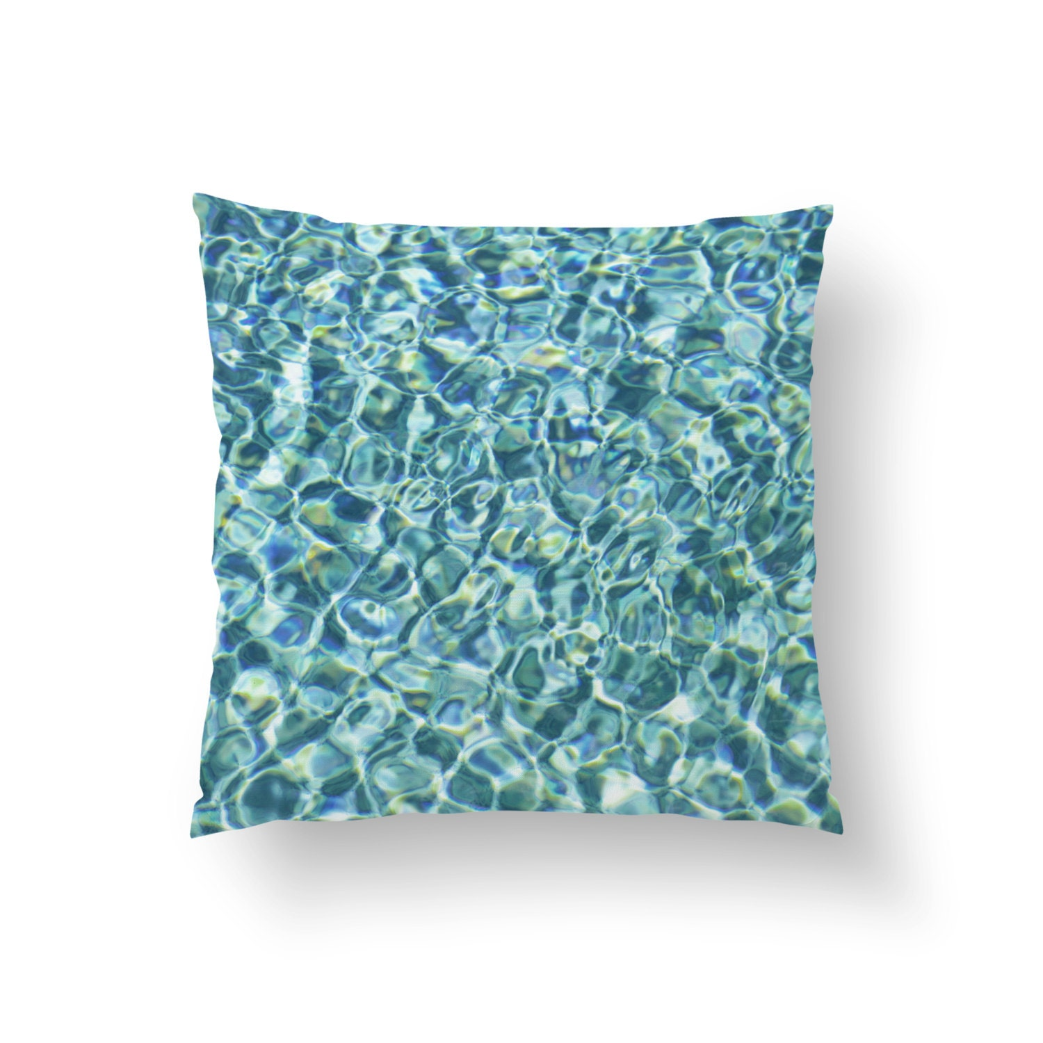Pool Blue Throw Pillows : Pool Water Throw Pillow Cover Nautical Blue Beach by NatureCityCo