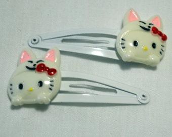 Japanese Kitty Hair Clips
