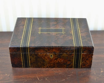 Vintage Faux Painted Wooden Box