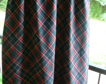 Plaid long skirt vintage Size 10