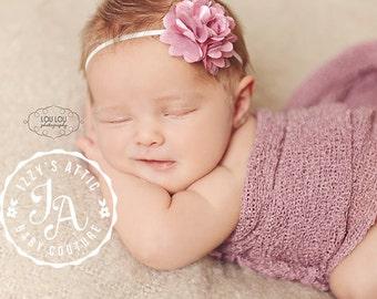 purple flower headband, flower rhinestone headband, rhinestone baby headband, baby headband, infant headband, flower headband, newborn band