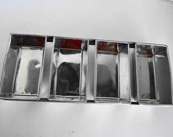 Vintage Industrial Metal Cake/Bread/Fruit Loaf Pans 4 in 1  Baking Loaf Pans