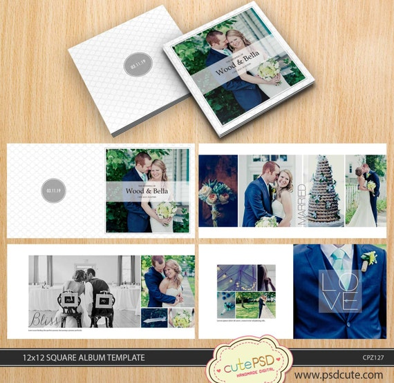Square wedding album template 12x12 10x10 8x8 24 pages square wedding album template 12x12 10x10 8x8 24 pages white modern simply cpz127 pronofoot35fo Gallery