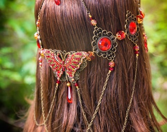 Red Wings Butterfly Circlet