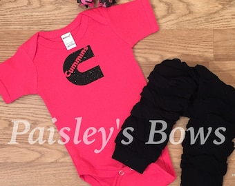 Pink and black 3pc set