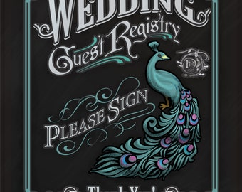 Chalkboard Wedding Registry signs