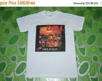 ON SALE 20% Vintage 80s DIRTY Rotten Imbeciles D.R.I. Oblivion Crossover Tour Concert gig promo rare T-shirt