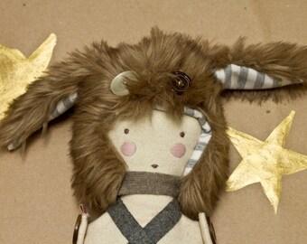 Boy in a rabbit hat