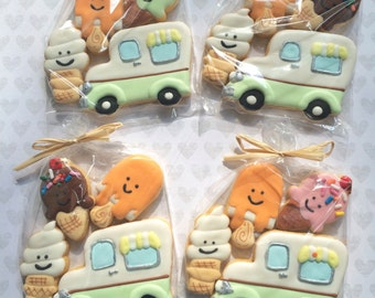 MINI Ice Cream Cone and Truck Sugar Cookies