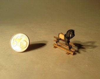 Miniature rocking horse made of wood - Item number: MRH 50
