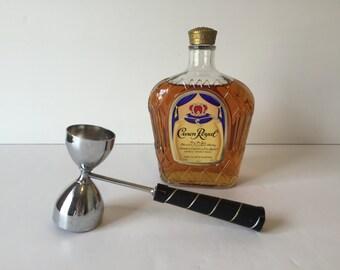 Vintage Bar Jigger, Vintage Barware, Metal Shot Glass, Retro Bar, Mad Men Decor, Vintage Bar Utensil