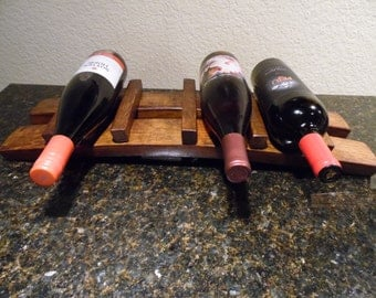 Barrel Stave Wine Rack,Four Bottle Wine Rack, Wine Barrel, Wine Storage, Barrel Staves, Wedding Gift, House Warming