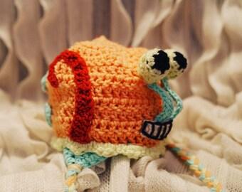 Gary the Snail Hat, Spongebob Hat, Character Hat, Snail Hat, Gary Hat, Spongebob Squarepants, Gary the Snail, Crocheted Hat, Crochet Hat