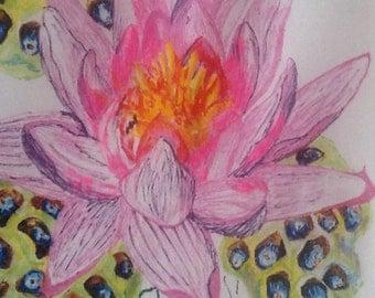 Lotus Love OOAK Crop-Top