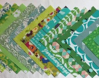 Gorgeous greens! Twenty, four inch squares.