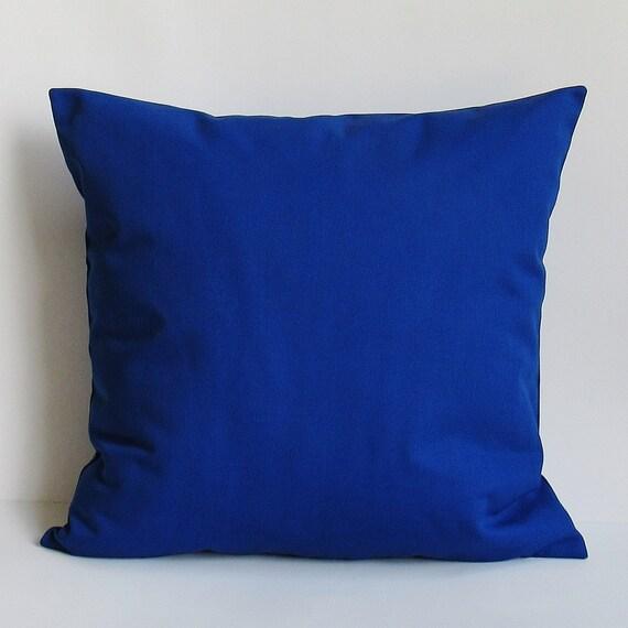 Cobalt Royal Blue Pillow Cover Decorative Throw Accent Sofa